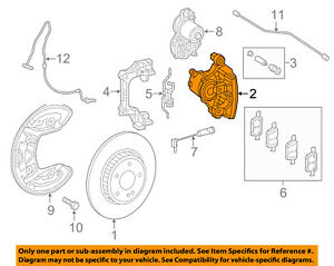 Mercedes MERCEDES-BENZ OEM 2015 C300 Rear-Brake Disc Caliper 2054230481
