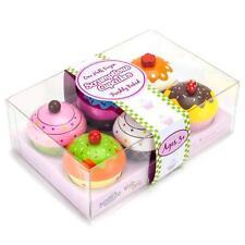 Cupcake Food Play Set Kids Toys Toddler Pretend Girl Boy Gift Set 6 Kitchen New