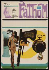FATHOM Czech A3 movie poster 11x16 RAQUEL WELCH ANTHONY FRANCIOSA