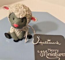 Hallmark Easter Merry Miniatures Sweet Lamb Figurine 2015 Sheep Nwt