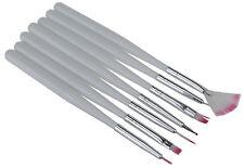 7er Set UV-Gel Pinsel Nailart Dotting-Tool Nagelstudio Nagelset uvgel Weiß BN182