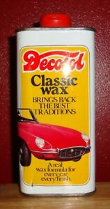 VINTAGE 300ml TIN DECOSOL CLASSIC WAX IN UNUSED CONDITION ~ LATE 1970's