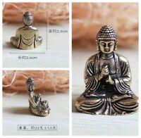 Pure Copper Bronze Brass Chinese Buddhism Sakyamuni Buddha Small lucky Statue