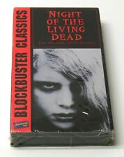 The Night Of The Living Dead Blockbuster Video 1968 Vhs New Sealed Zombie Horror