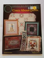 CRAZY ABOUT QUILTS 1994 OOP Cross Stitch Pattern Booklet DA294