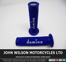 Yamaha YZF-R6 600 N 1999 - 2002 R6 Blue White Domino Handle Bar Race Grips