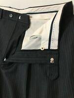 Lauren Ralph Lauren 36 x 30 Gray Pinstripe Total Comfort 100% Wool Dress Pants