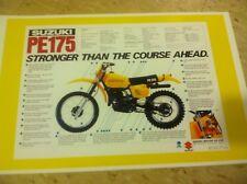 Vintage Suzuki Pe175 Motorcycle Poster Home Decor Man Art Christmas Present