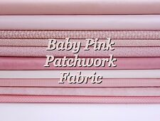 PALE PINK Baby Pink Mixed Patterned Floral + Themed 100% Cotton Patchwork Fabric