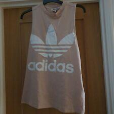 Adidas Pink Vintage Womens Tank Top Size 14
