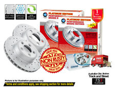 AUDI A3 8P 280mm2003-2013 FRONT Slotted Drilled Disc Rotors & EuroPads