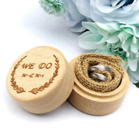 Wood Ring Box Wedding Engagement Wooden Ring Bearer Box Rustic Ring Box Holder^P