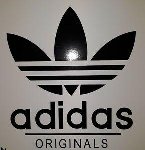 """Adidas originals 7"""" x 8"""" Car  Scooter lambretta vespa Camper Van Decal sticker"""