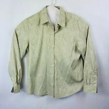 Orvis Wrinkle Free Paisley Button Front Shirt Women's Size 14