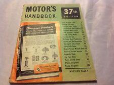 1954 - 1960 Motors Handbook 37th edition Cool Ads wiring diagrams corvette buick