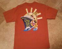 CLEARANCE Disney Cruise Line Short Sleeve Graphic Tee Shirt Cotton Rust M