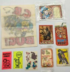 VTG 60s 70s Cereal Prize Lot Battlestar Joker Batman Captain Crunch