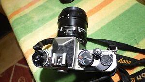 Nikon  FE2  camera   with  af macro  55mm nikkor  lens