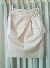 Nanette Lepore Cream Boq Pencil Dress Skirt 2 XS