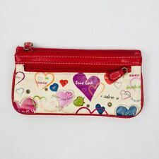 Xoxo Red Wallet Organizer Zipper Snap Closures