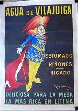 Affiche Ancienne  1912 AGUA de VILLAJUIGA par CAPPIELLO