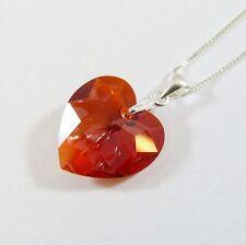 Modeschmuck-Halsketten & -Anhänger aus Kristall und Sterlingsilber mit Herz