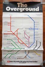1971 Inter City The Overground Route Map Original Railway Travel Poster