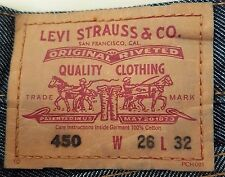 LEVI STRAUSS Original 450 Red Tab LEVI'S Low X Flare JEANS Women W26 L32 Size 8