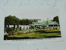 VINTAGE PHOTO POSTCARD THE RESIDENCE @ BUTCHARTS GARDEN VICTORIA B C   3X5