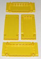 Lego Lot of 4 New Yellow Technic Panel Plates 5 x 11 x 1 Parts