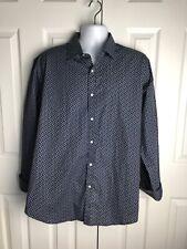 Valerio Garati Blue Paisley LS Slim Fit Dress Shirt XL 17-17 1/2  34/35 NWOT