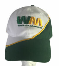 Waste Management Hat Cap Adult Snapback Green White Yellow