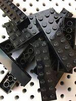 Lego Black 2x8 Building Bricks Blocks 2 X 8 Lot Of 10