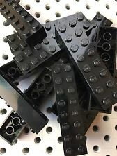 Lego Black 2x8 Building Bricks Blocks 2 X 8 Lot Of 12
