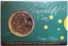 2004 - Australia - Student Design 50 Cent carded coin - Mintage 36,902