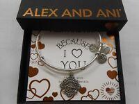 Alex and Ani Because I Love You DAUGHTER III Bracelet Rafaelian Silver NWTBC