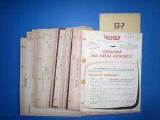 N°127 / RICHIER : manuel des piéces détachées moteur 4 cyl  Perkins  type 4203