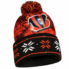 Forever Collectibles NFL Men's Cincinnati Bengals Logo Light Up Beanie Knit Cap
