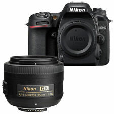 Nikon D7500 20.9MP Digital SLR Camera Body + AF-S DX NIKKOR 35mm f/1.8G Lens Kit