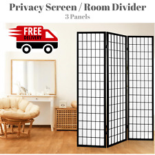 NEW Privacy Screen Room Divider Office Partition Home Orient Look Foldable Black