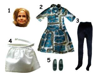 "1974 WALTONS 8"" mego doll - Johnboy Ellen Mom Pop GrandMa Pa - SHIRT PANTS DRESS"