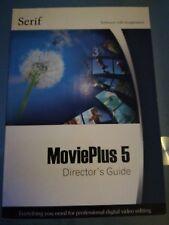 Serif movie plus 5  companion user directors guide only no disc