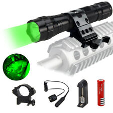 Tactical Green LED Flashlight Hunting Light for Coon Coyote Pig Varmint Predator