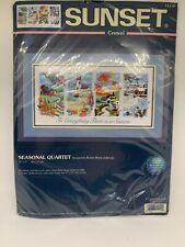 "Dimensions Sunset Crewel Kit ""Seasonal Quartet� 18�x9� Nos 11119"