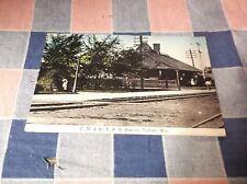 Old Postcard 191? Tomah Wis C. M. & St. P R. R. Station Tomah Wis