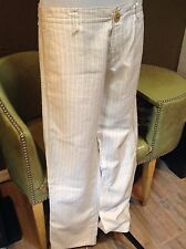 Hugo Boss Women's linen/viscose white lined funky pants jeans can shorten 38 US6