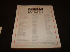 Bob Dylan ad list of songs sung by other artists, Billy Joel, U2, Cher, Nicks