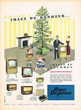PUBLICITE ADVERTISING 035  1956  RIBET-DEJARDINS   IMAGES & RYTHMES  téléviseur