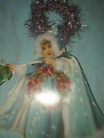 Vintage inspired Christmas or Valentine paper doll gift tag ornament Item#32