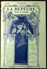 """Revue """"La Dépêche Dans la Famille"""" 10 Janvier 1902. 97 Gravures"""